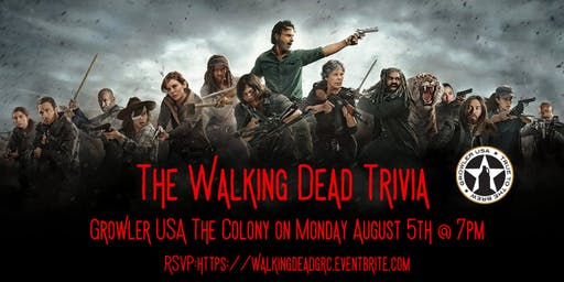 The Walking Dead Trivia at Growler USA The Colony