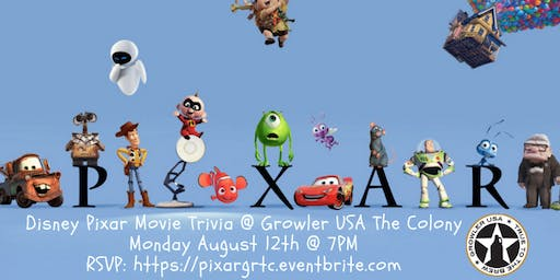 Disney Pixar Movie Trivia at Growler USA The Colony