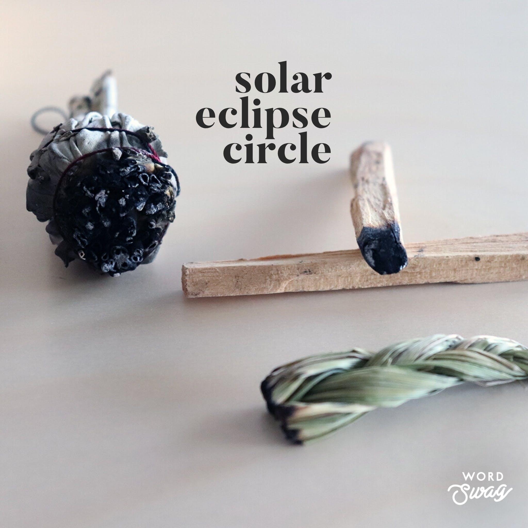 Solar Eclipse Circle