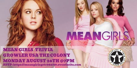 Mean Girls Trivia at Growler USA The Colony tickets