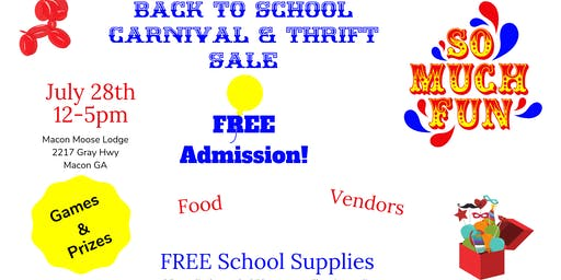 Back to School Carnival & Thrift Sale