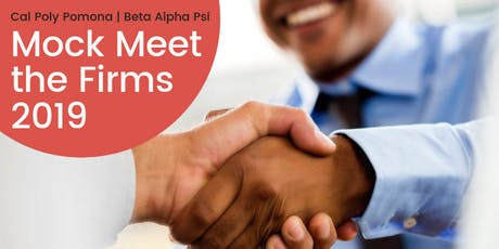 Cal Poly Pomona MOCK Meet the Firms 2019 tickets