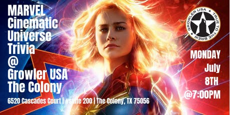 Marvel Cinematic Universe Trivia at Growler USA The Colony tickets