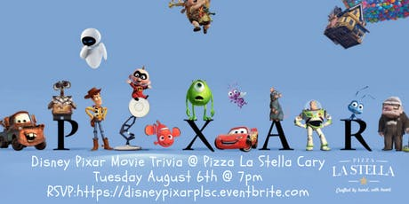 Disney Pixar Movie Trivia @ Pizza La Stella Cary tickets