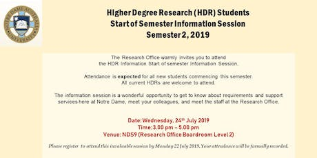 Higher Degree by Research (HDR) Students Information Session tickets
