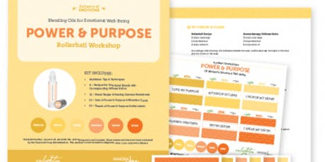 Power & Purpose -Blending oils for emotional wellbeing tickets