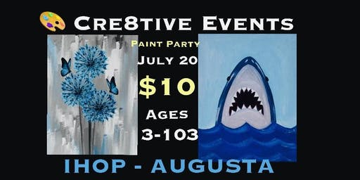 $10 Kiddos & Adults Paint Party- ages 3-103