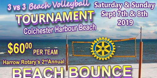 2nd Annual Harrow Rotary Beach Bash Volleyball Tournament