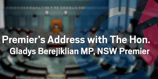 NSW | Premier's Address with The Hon. Gladys Berejiklian MP, NSW Premier