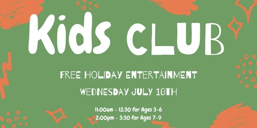 Kids Club at Parklands Dental : ages 3-6 years