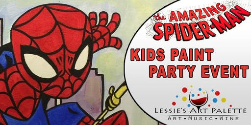 Spider Man Kids paint party