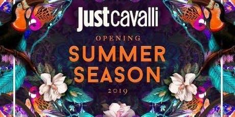 Lunedi JUST CAVALLI - OMAGGIO DONNA - APERITIVO + SERATA biglietti