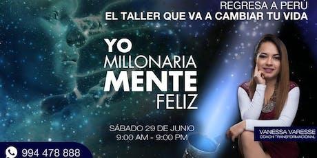 TALLER YO MILLONARIAMENTE FELIZ 3.0 entradas