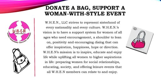 Donate A Bag, Support A Woman