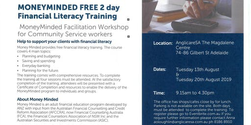 MoneyMinded 2 Day FREE Financial Literacy training Adelaide