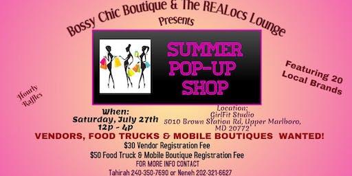 Summer Pop Up Shop - Vendors Needed!!!