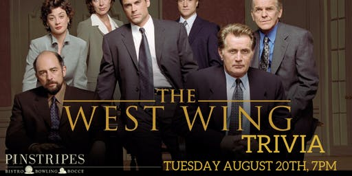 The West Wing Trivia at Pinstripes Georgetown
