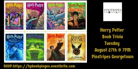 Harry Potter Book Trivia at Pinstripes Georgetown tickets