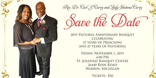 Pastor Curry 2019 Pastoral Anniversary Banquet