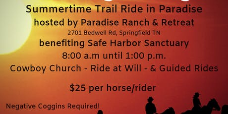 Safe Harbor Summertime Trail Ride in Paradise tickets