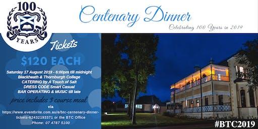 BTC Centenary Dinner