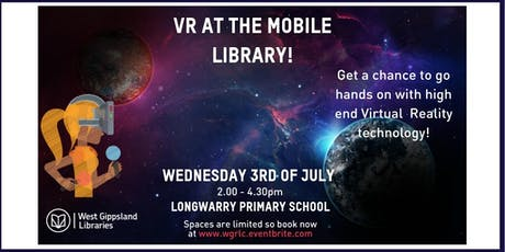 Virtual Reality at Longwarry Primary School: with the Mobile Library tickets