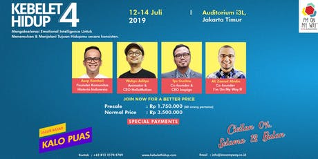 [EARLY BIRD] Discover & Live Passion & Purpose with Kebelet Hidup 4 tickets