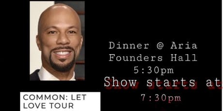Dinner and A Show (Common: Let Love Tour) tickets