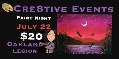BOGO SPECIAL - $20 Paint Night @ Oakland Legion
