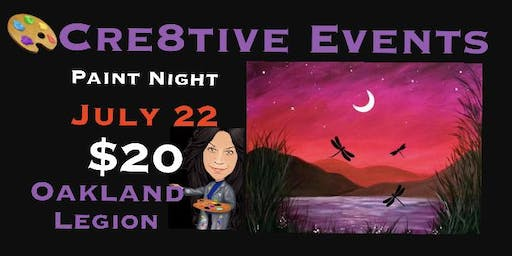BOGO SPECIAL - $20 Paint Night @ Oakland Legion