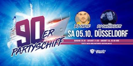 """90er Partyschiff mit DJ Quicksilver """"live"""" DJ Set - Düsseldorf Tickets"""