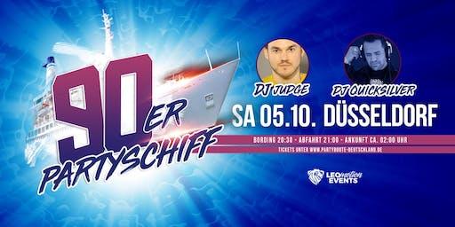 """90er Partyschiff mit DJ Quicksilver """"live"""" DJ Set - Düsseldorf"""