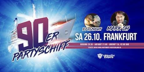 """90er Partyschiff mit Mark Oh """"live"""" DJ Set - Frankfurt Tickets"""