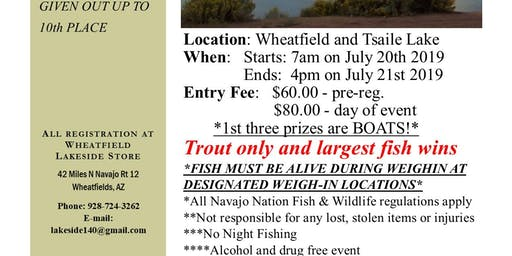 July fishing Contest at Wheatfield and Tsaile Lakes