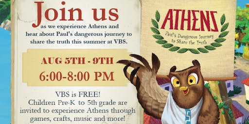 VBS Athens! 2019 at Community Bible Church of Northern Westchester