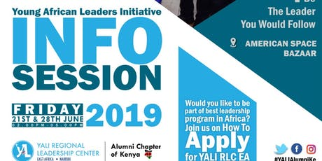 YALI RLC APPLICATION INFORMATION SESSION 2 tickets