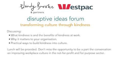 Disruptive Ideas Forum tickets