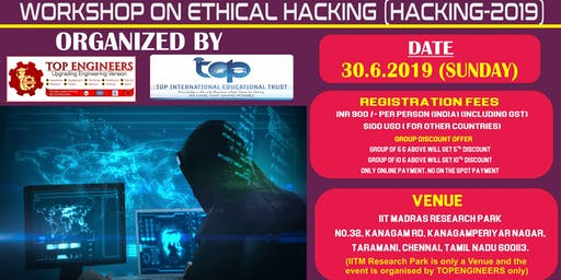WORKSHOP ON ETHICAL HACKING (HACKING-2019)