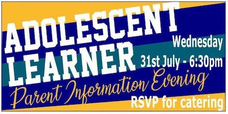 Parent Evening - Adolescent Learner tickets