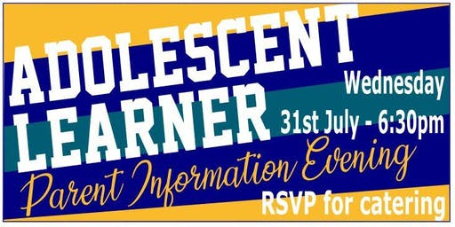 Parent Evening - Adolescent Learner