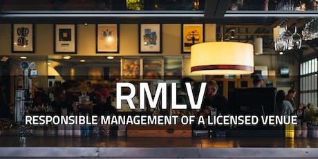 RMLV Course - North Brisbane, August 26 tickets