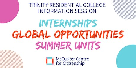 McCusker Centre for Citizenship: Trinity College Information Session tickets