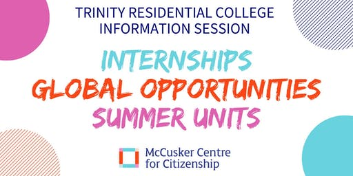 McCusker Centre for Citizenship: Trinity College Information Session