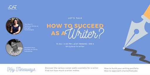 Let's Talk: How to succeed as a writer?