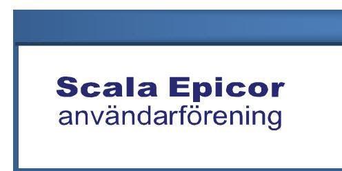 Höstmöte Scala Epicor Användarförening 2019
