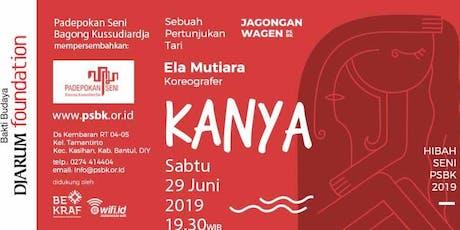 """Pertunjukan Tari """"KANYA"""" - Jagongan Wagen edisi Juni 2019 tickets"""