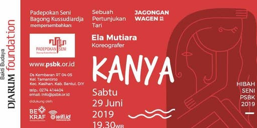 "Pertunjukan Tari ""KANYA"" - Jagongan Wagen edisi Juni 2019"