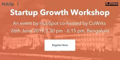 Startup Growth Workshop: Inbound Marketing Strategy with Hubspot  tickets