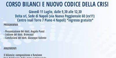 CORSO BILANCI E NUOVO CODICE DELLA CRISI, Napoli, 11 luglio