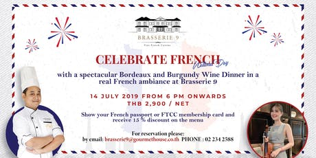 Celebrate French National Day with a Bordeaux and Burgundy Wine Dinner tickets
